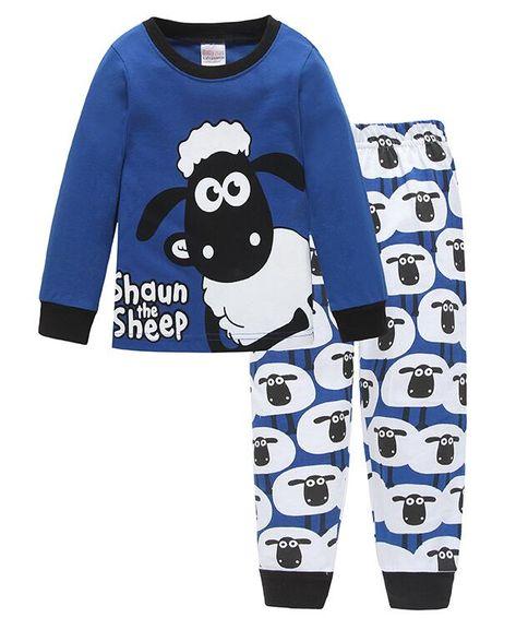 Boys Pajamas Cosy Long Sleeves Toddler Clothes Blue Dinosaur Kid Pjs Sleepwear
