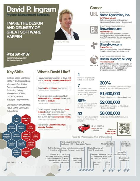 Infographic Resume Vol1 by paolo6180 GraphicRiver Currículum - info graphic resume
