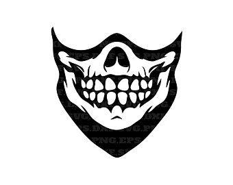 Skull Svg Skull Mask Skeleton Mask Svg Dxf Png Eps Etsy In 2020 Skeleton Mask Skull Mask Mask