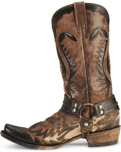be3418f13ec Stetson Brown Harness Cowboy Boots - Snip Toe in 2019 | boots ...