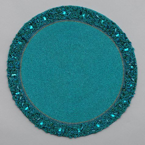 Round Placemat With Cluster Border Wedding Table Decorations Diy Placemats Table Runner And Placemats