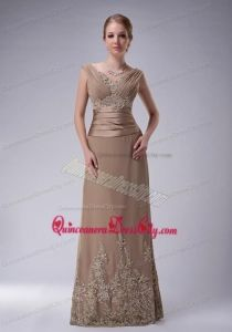 a10d10005f9 2014 The Brand New Style Champagne Mother of the Bride Dresses with  Appliques