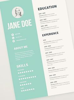infographic resume template free download