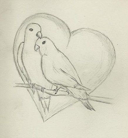 Super Drawing Ideas Easy Pencil Couple 68 Ideas Bird Drawings Easy Love Drawings Sketches Of Love