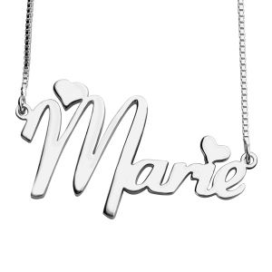 38dc9753062f6 Personalized Girl's Name Necklace Sterling Silver | Custom photo ...