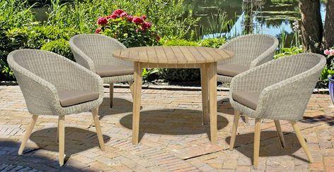 Garden Pleasure Gartenmobelset Arvada 5 Tlg 4 Sessel Tisch