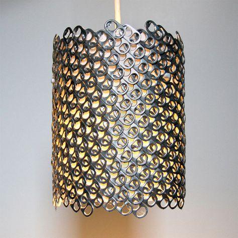 pulltabs lampshade   abażur z zawleczek
