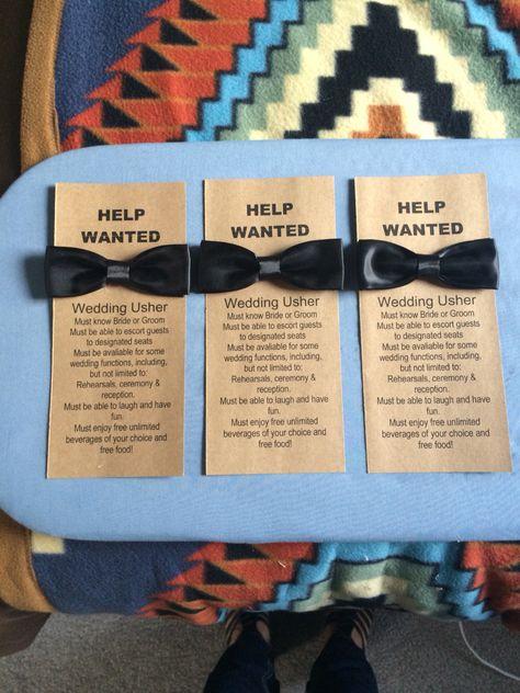 Will You Be My Usher Wedding Usher Cards I Made Wedding Ushers Casual Wedding Reception Vintage Floral Wedding Invitations