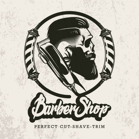 Retro barbershop logo