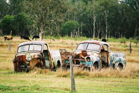 Old Wreck On Display Near Emerald Queensland