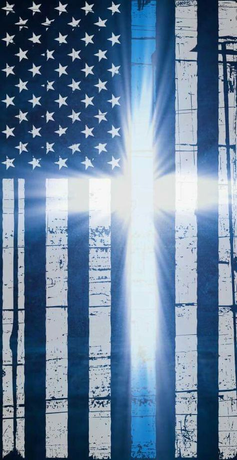 Distressed Georgia Shaped Subdued US Flag Thin Blue Line Cell Phone Sticker GA