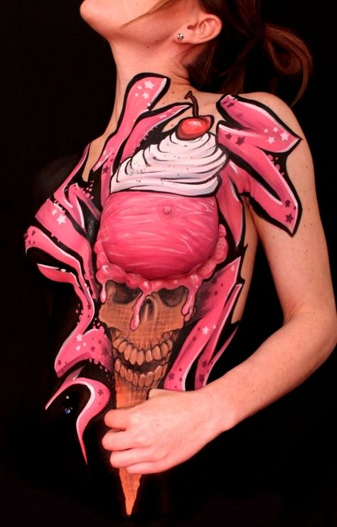 'ICE SCREAM' - WISER | Body Painting Prints