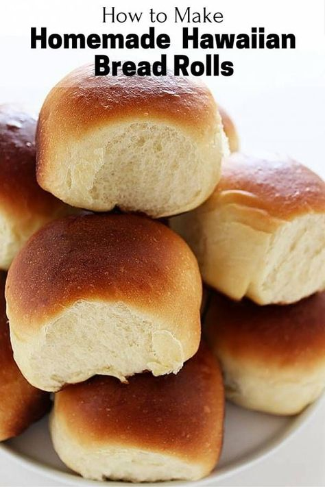 Soft, fluffy and tasty Hawaiian bread rolls for the next family gathering. A zesty bread to remind you of tropics.