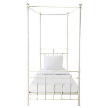 Weisses Himmelbett Aus Metall 90x190 Himmelbett Bett Und Bett Ideen