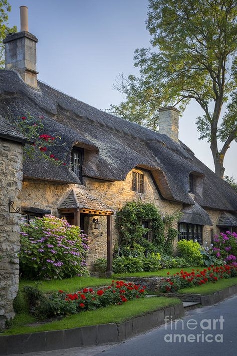 Thatched Roof - Cotswolds Art Print by Brian Jannsen. All prints are professionally printed, packaged, and shipped within 3 - 4 business days. Choose from multiple sizes and hundreds of frame and mat options.