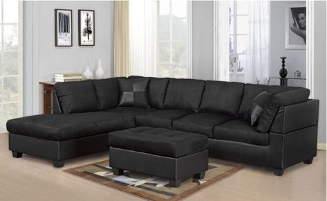 Seating Furniture Black Sectional