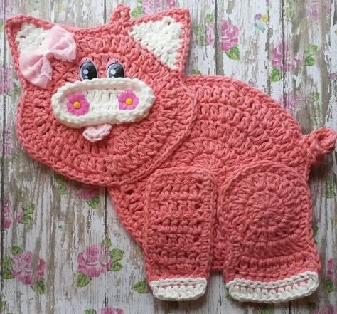 Pin By Linda S Country Crochet On My Ebay Store Crochet Pig