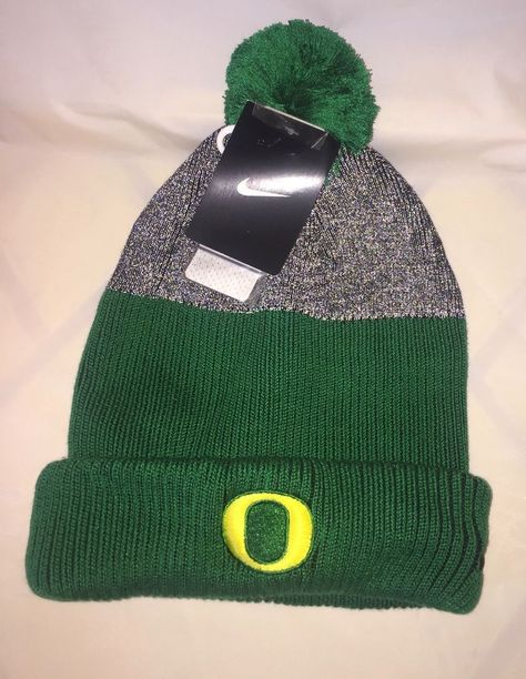 9d20a5435e8 NIKE Mens COLLEGE OREGON APPLE GREEN GRAY Cuffed Pom Beanie Hat NWT   fashion  clothing  shoes  accessories  mensaccessories  hats (ebay link)
