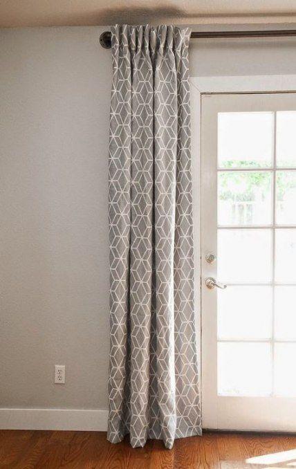 40 Super Ideas Sliding Glass Door Ideas Apartments Curtain Rods