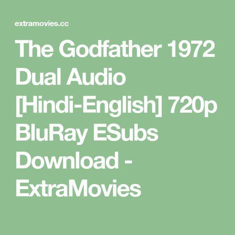 The Godfather 1972 Dual Audio [Hindi-English] 720p BluRay