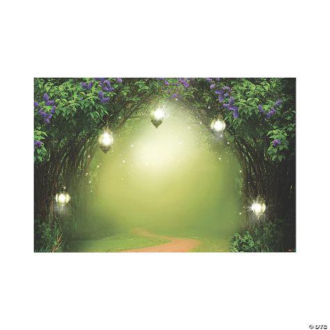 Fairy Garden Backdrop   Oriental Trading