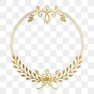 Golden Circle Frame With Beauty Floral Vintage Ornament Vector Illustration Photo Clipart Golden Ornament Png And Vector With Transparent Background For Free In 2021 Framed Photo Collage Ornament Frame Frame Clipart