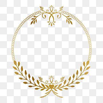 Golden Circle Frame With Beauty Floral Vintage Ornament Vector Illustration Photo Clipart Golden Ornament Png And Vector With Transparent Background For Free Framed Photo Collage Ornament Frame Vintage Photo Frames
