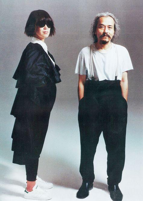 rei kawakubo and yohji yamamoto for『PAPER』magazine, september 2008