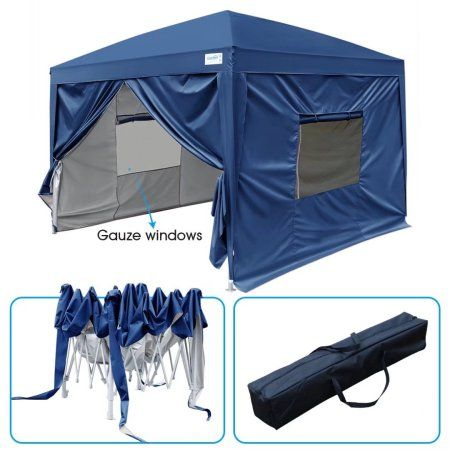 8 Colors Quictent Silvox 10x10 EZ Pop Up Canopy Party Tent Instant Gazebo Waterproof with 4 Sides /& Roller Bag