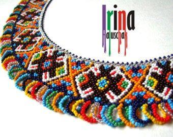 Ethnic Jewelry Mustaille Embera earrings Beaded Boho Earring Long seed count earrings Bead Jewelry Artisan Handmade