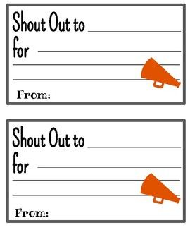 Use This Simple Template To Send A Shout Out To A Colleague Need Ideas For Setting Up A Shout O Staff Motivation Employee Engagement Activities Teaching Teens