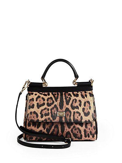 f180a13dc4 DOLCE   GABBANA Mini Miss Sicily Leopard-Print Satchel.  dolcegabbana  bags   shoulder bags  hand bags  leather  satchel