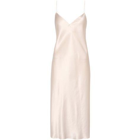 d7b0002db44f Saint Laurent Silk Slip Dress ($1,015) ❤ liked on Polyvore featuring  dresses, yves saint laurent, pink, slip dress, silk dress, silk slip  dresses and pink ...