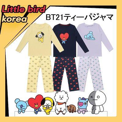 qoo10 bt21ティージャマ kpop ティーシャツ 韓流ドラマ パジャマ