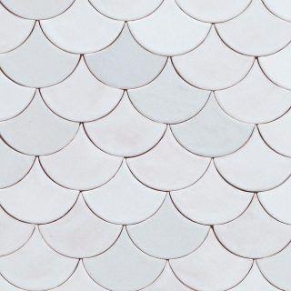 Scallop Tiles Scl01 Douglas Watson Studio Scallop Tiles Scallop Tile Bathroom Patterned Bathroom Tiles