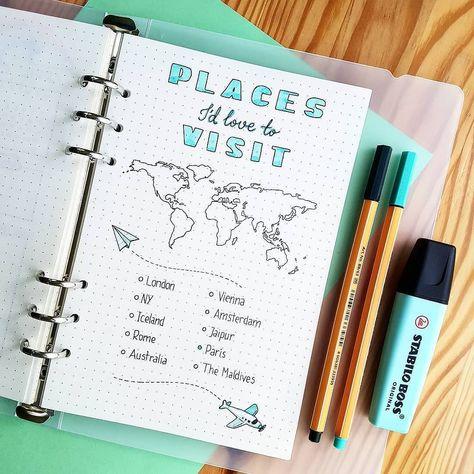 Préparer vos futurs voyages grâce à votre bullet journal !