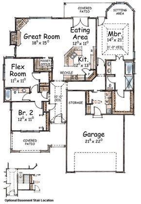 Plan 40540db Bungalow Style House Plans House Plans Floor Plan