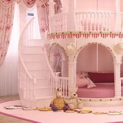 Online Shop Bedroom Princess Girl Slide Children Bed Lovely Single Pink Castle Bed Girls Furniture A In 2020