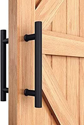 Easelife 12 Pull Door Handle Double Side Bar To Bar H Shape Ladder Stainless Steel Sturdy Fit For Glass Door In 2020 Door Handles Shower Door Handles Glass Barn Doors