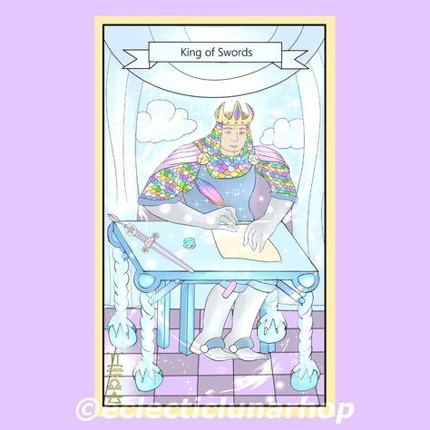 #Kingofswords #kingofswordstarotcard #tarot #tarotcard #divination #tarotlesson #discipline #truth #logic #control #manipulative #cruel #king #swords #digitalillustration #digitalart #digitaltarot #tarotreaders #taroterapia #tarots #tarotart #indietarot #kawaiitarot #cutetarot #diytarot #digitalpaint #clipstudio #illustrator #kawaiiart #cuteart