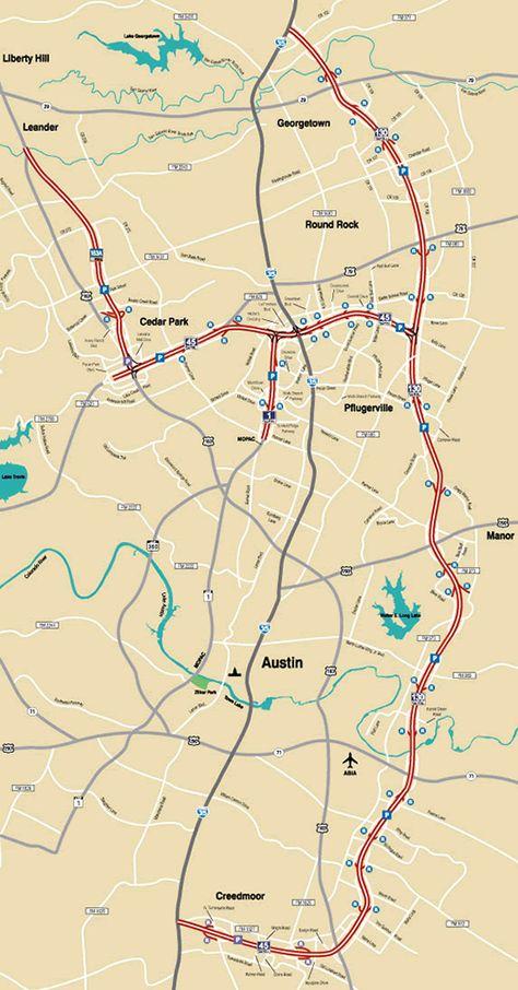 Road Map Of Austin Texas.Pinterest