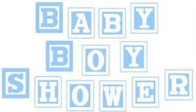 Tie Banner Baby Shower Blue Green Chevron Boy Baby Shower Birthday