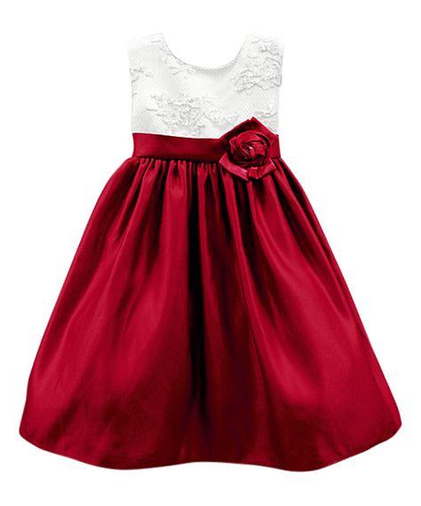 d6e7b7eed035 Sugar Plum Ivory & Red Carol Dress - Infant, Toddler & Girls by Sugar Plum  #zulilyfinds