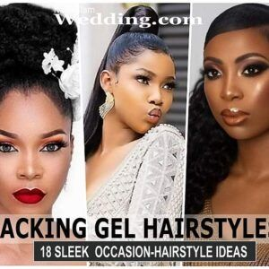 18 Cute Packing Gel Ponytail Hairstyles For Occasions Photos Naijaglamwedding Wedding Hair Up Nigerian Hair Style Ponytail Styles