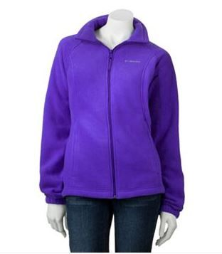 Ladies Columbia Sportswear Solid Fleece Jacket In Teal Blue. Count on this Columbia  jacket for your cool-weather needs. Its soft fleece construction keeps ...
