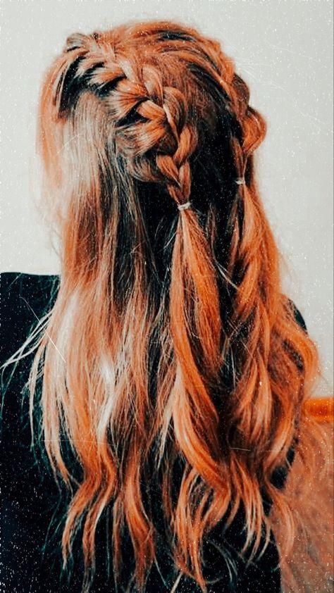 Cute Hairstyles For Medium Hair, Cool Braid Hairstyles, Scarf Hairstyles, Pretty Hairstyles, Medium Hair Styles, Curly Hair Styles, Fast Hairstyles, Aesthetic Hair, Hair Day
