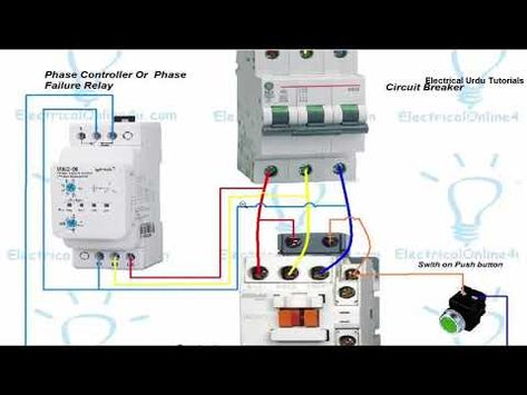 Phase Failure Relay Connection Installation In Hindi Urdu Youtube Electrical Wiring Diagram Relay Electrical Panel Wiring