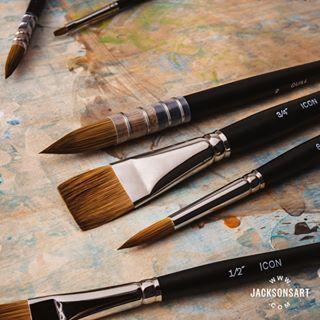 Jackson/'s Icon Sable Synthetic Mix Watercolour Brush Round No.2
