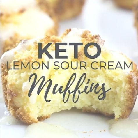 My Wildly Popular Keto Lemon Sour Cream Muffins Got A Yummy New Video It S Got Me Wanting To Run To The Kit Sour Cream Muffins Keto Recipes Easy Low Carb Keto
