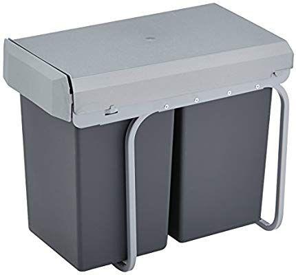 Wesco 755 611 11 New Double Boy Einbaueimer 2x 15 Liter 39 X 25 X 45 Cm Silber Anthrazit Amazon De Kuch Einbau Abfallsammler Abfallsammler Mulleimer Einbau